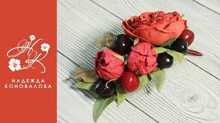 Как сделать гребень с цветами из фоамирана