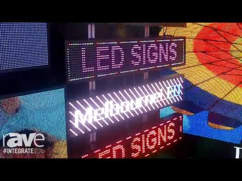 Integrate 2016: Melbourne LED Signs Features Its Indoor, Outdoor and Traditional LED Displays