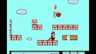 Super Mario Bros 3 - Nintendo NES - secret white mushroom house after World 1-4 - User video