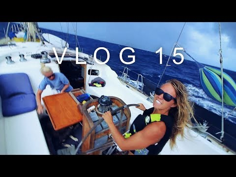 Broken sails and too windy sailing directly from Panama to Bahamas! -WILDFIRE SAILING VLOG 15