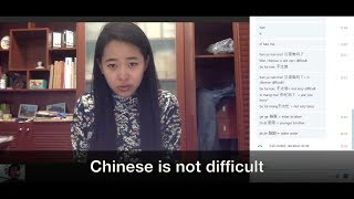 Best Chinese/Mandarin Lesson 4: Chinese is not difficult - Chinese for Beginner - Spoken Chinese