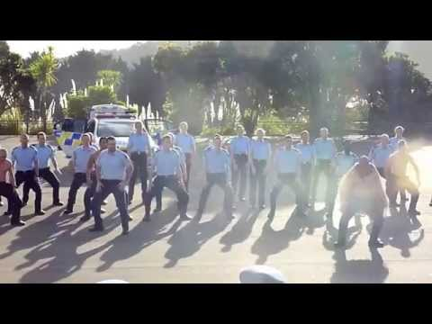 Police college graduates perform haka