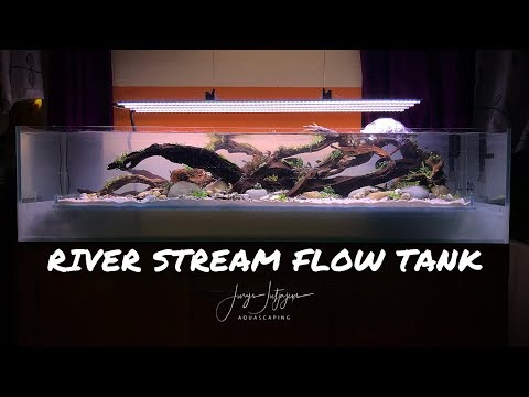 Aquascaping A DBL Bottom Aquarium - Step By Step River Stream Flow Tank Aquascape Tutorial