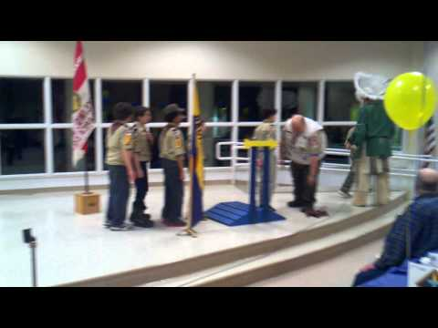 Cubscouts crossing over to Boyscouts 2012-02-07