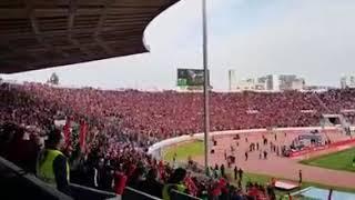 حماس جمهور الوداد في مباراة مازيمبي