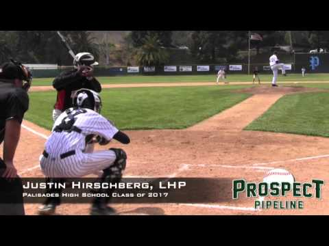Justin Hirschberg Prospect Video, LHP, Palisades High School Class of 2017