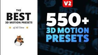 Movimiento 3D ajustes Preestablecidos de Animación Compositor (Después de los Efectos de la Plantilla) ★ AE Plantillas