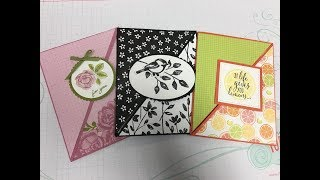Stampin' Up! Right Angle Fold Over Fun Fold Card