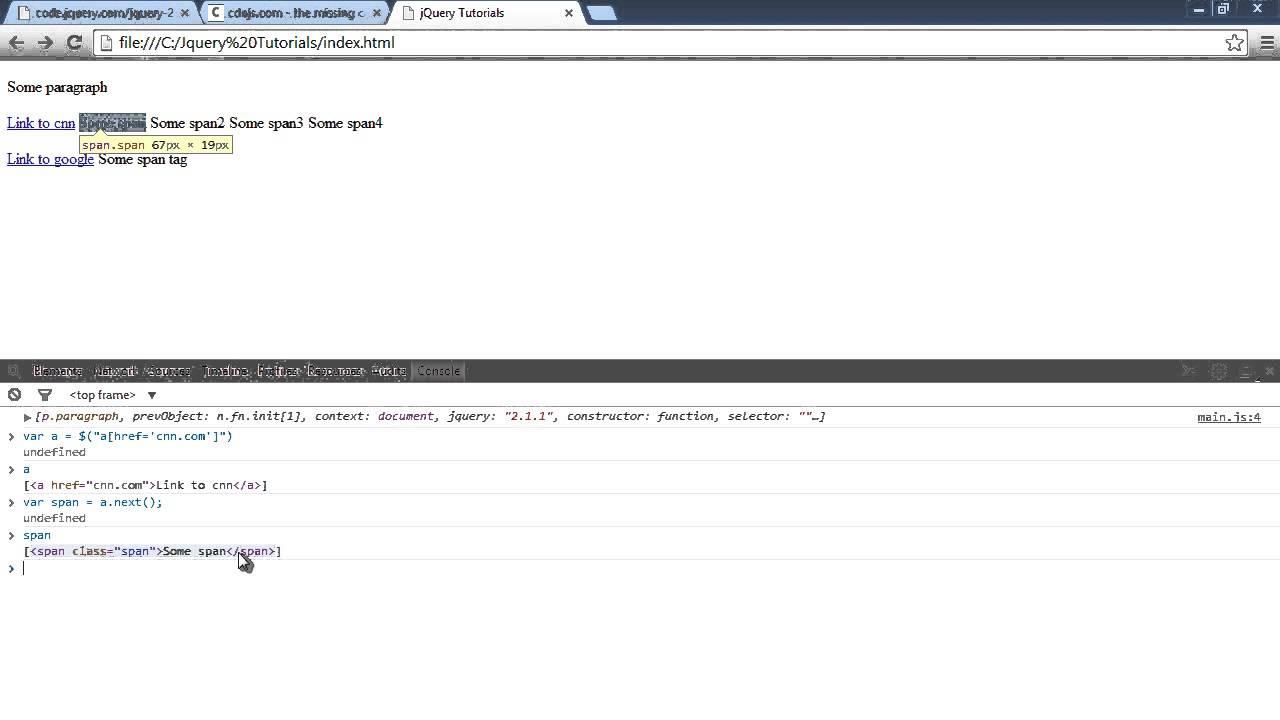 JQuery Tutorial - jquery selectors - select next element ...