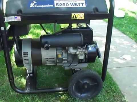 Tecumseh Generator with upgraded lo tone muffler 37350 review