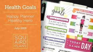 July Health & Fitness Goals :: Plan With Me :: Happy Planner Healthy Hero