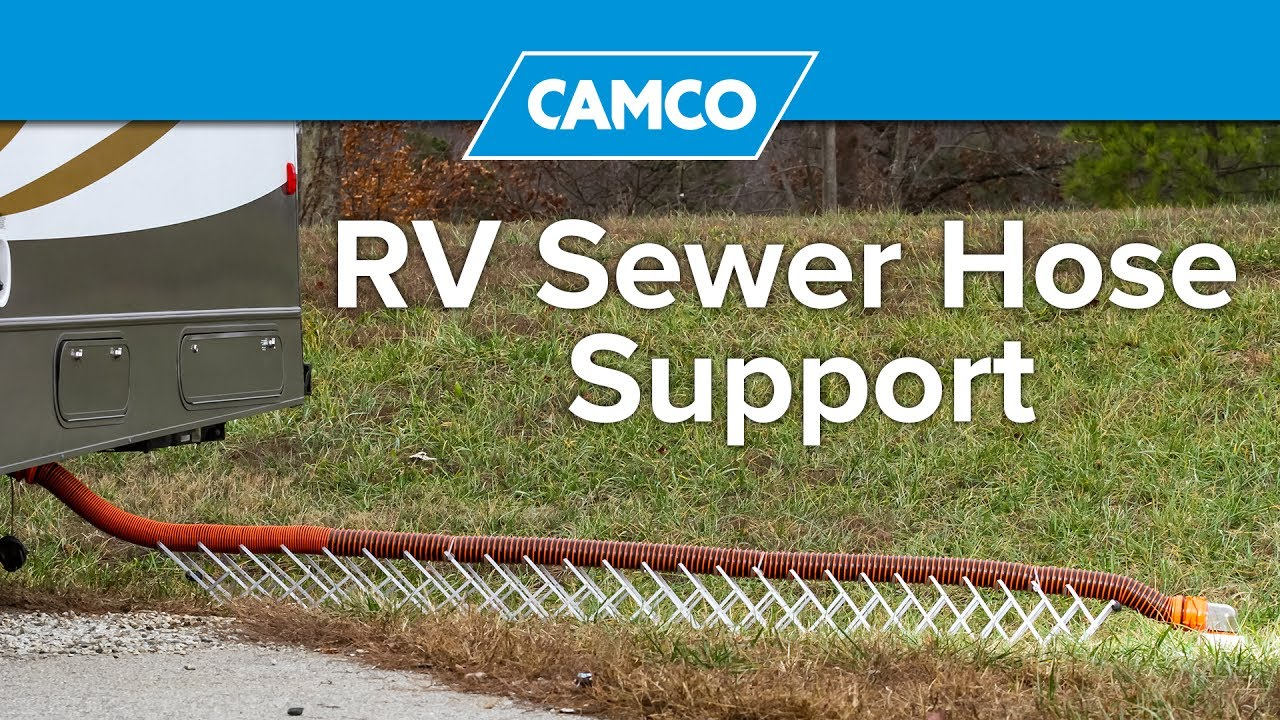 Rv Sewer Hose Support Youtube