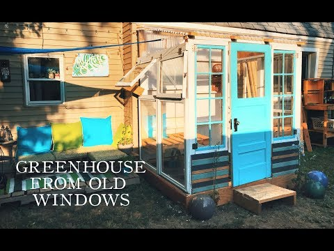 DIY GREENHOUSE FROM OLD WINDOWS