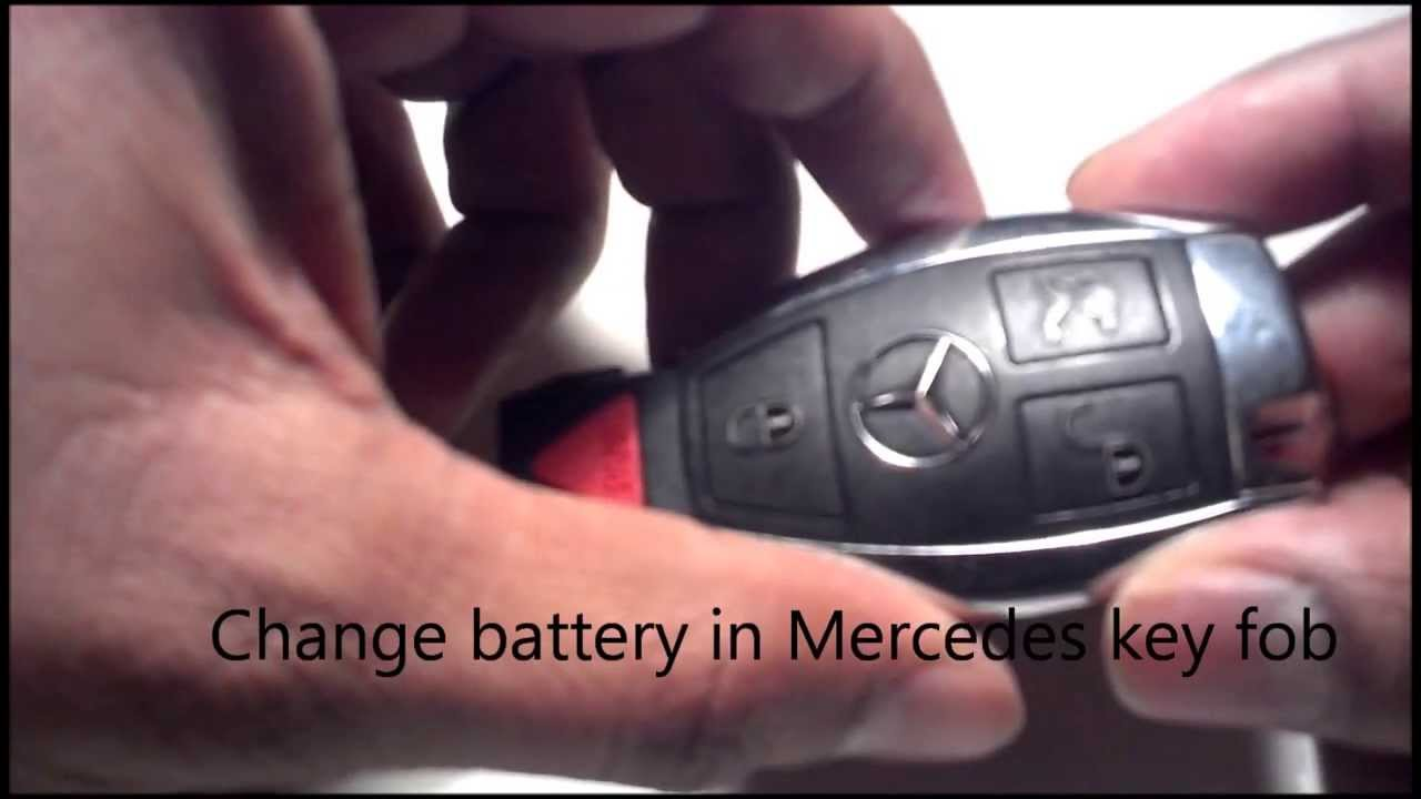 changing battery in mercedes key fob 2004