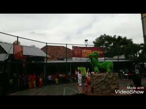 Green Lion Dance Performances During The COMPETITION In Lepisi