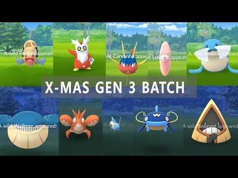 Download Youtube: New 20 Gen 3 Pokemon Has Appeared on Christmas Holiday!