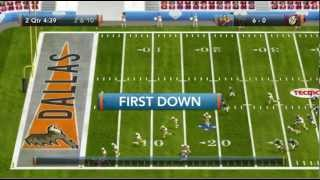Tecmo Bowl Throwback Dallas Cowboys vs Washington Redskins Xbox 360 720P