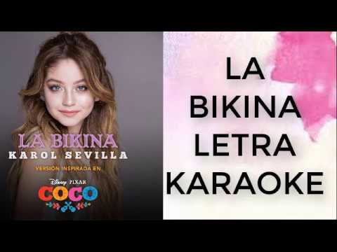 """La Bikina(""""COCO""""Disney Pixar)-Karaoke-Karol Sevilla"""