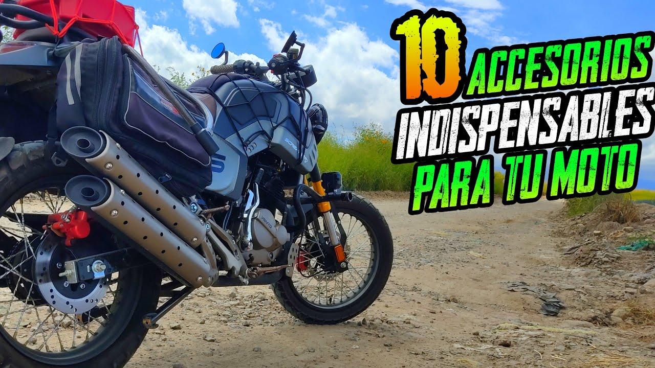 10 ACCESORIOS que DEBES COMPRAR para TU MOTO - Deja de SUFRIR