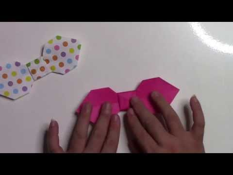 【折り紙 折り方】簡単なリボンの作り方動�