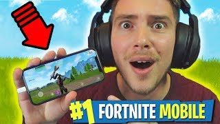 FORTNITE SUL TELEFONO!! - Fortnite Mobile iPhone X ITA
