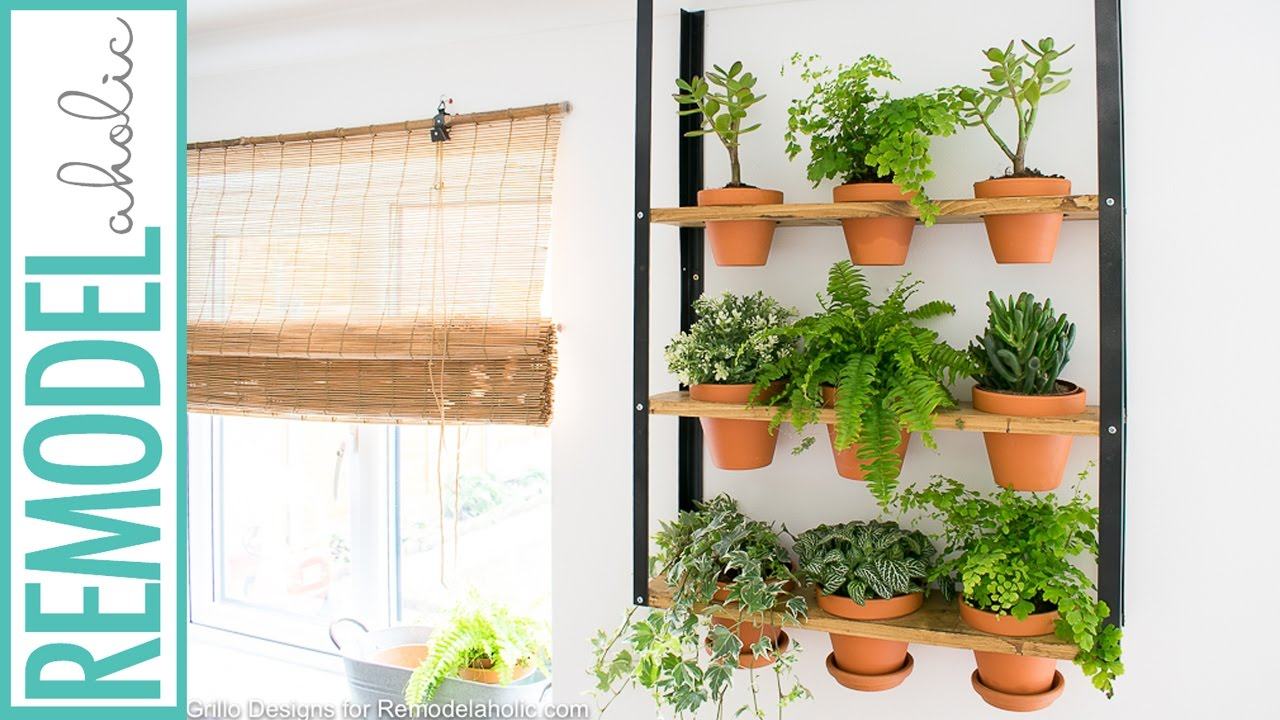 how to make an indoor wall herb garden