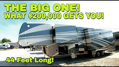 BIGGEST and NICEST RV yet! HUGE 44' DRV Houston FIFTH WHEEL!