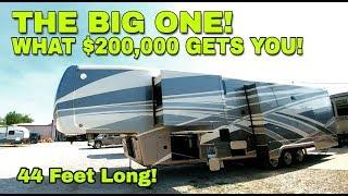 BIGGEST and NICEST RV yet! HUGE 44' DRV Houston FIFTH WHEEL!