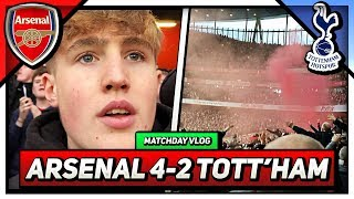 North London Derby SCENES! Arsenal 4-2 Tottenham Vlog *BEST GAME EVER*