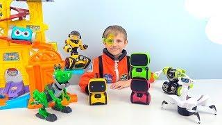 РОБОТЫ игрушки для детей и Даник - Умный AT ROBOT и злой доктор Zed