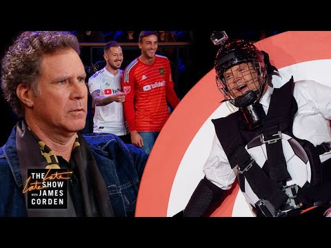 Will Ferrell & LAFC Use James as Target Practice