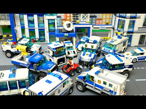 LEGO Cars and Trucks for kids and big Police station