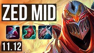 ZED vs GAREN (MID) | 11/1/3, 7 solo kills, 1400+ games, 1.8M mastery | BR Diamond | v11.12