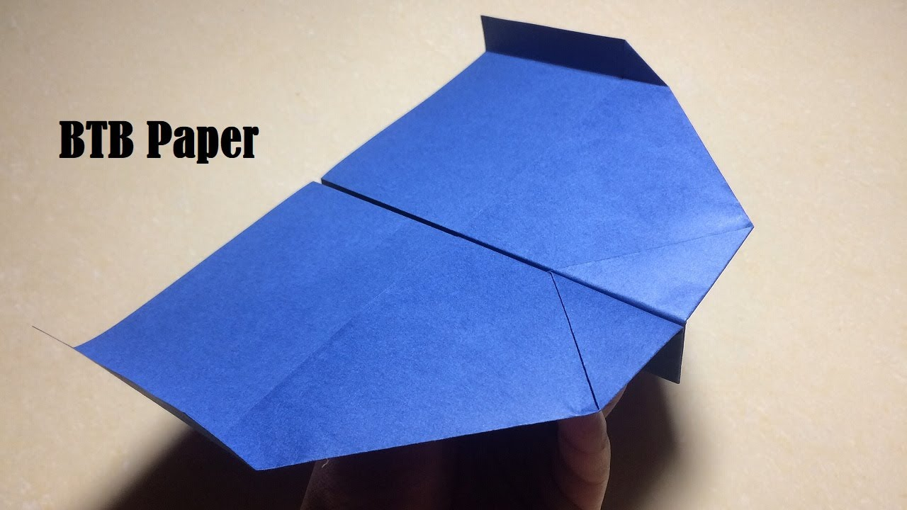 How to make a paper plane - Origami paper airplane