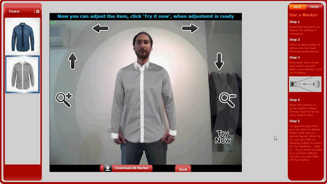 fba399ea259 VirtualTRY Mirror Clothes by Live webcam - YouTube