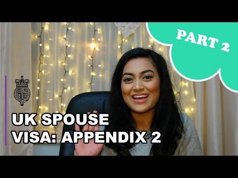 UK Spouse Visa 2018 - PART 2: Appendix 2 Form