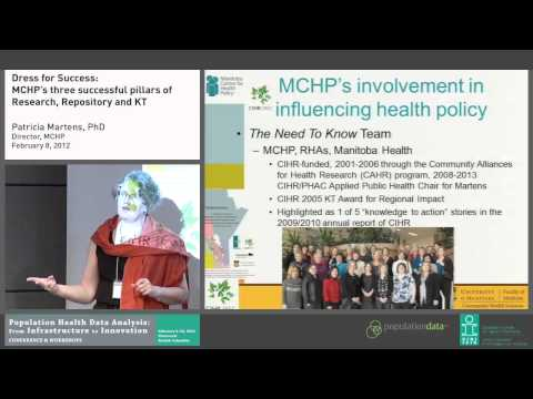 Dress for Success: MCHP's three successful pillars of Research, Repository & Knowledge Translation