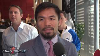Manny Pacquiao surprised by love & support of Aussie fans! Calls Jeff Horn fight