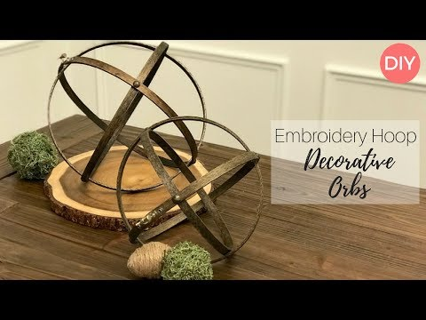 Embroidery Hoop Decorative Orbs DIY