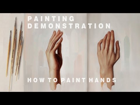 OIL PAINTING DEMONSTRATION #3 || How To Paint Hands