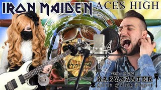 Iron Maiden Aces High VOCAL GUITAR COVER BabySaster George Margaritopoulos