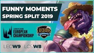 funny moments lcs week 8 amp lec week 9 spring split 2019