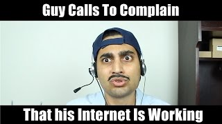 """Guy Freaks Out After His Internet Starts Working"" -By Danish Ali"