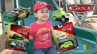 DISNEY CARS 3 Toys at the Park,UNBOXING Conrad Camber &  Charlie Cargo
