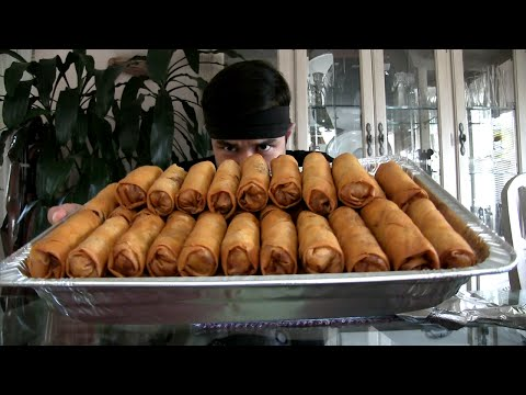 50 Egg Roll Challenge (~10k Calories)