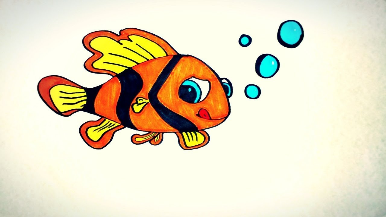 Coloring Pages For Kids Little Fish The Funny Kids World Youtube