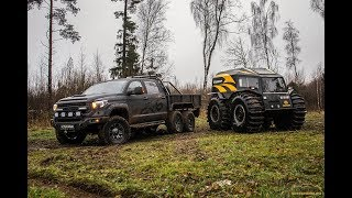 Toyota Tundra 6x6 Hercules vs SHERP offroad tests #2