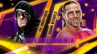 NWA Wrestlemania ONE Match Card The Undertaker vs Shawn Michaels