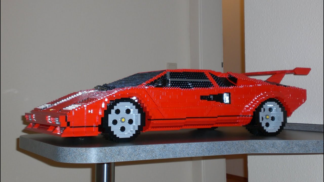 Lego Lamborghini Countach / BIG Scale Car - YouTube