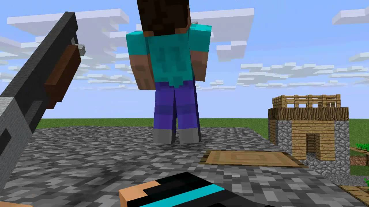 First Person Shooter Minecraft Animation Youtube